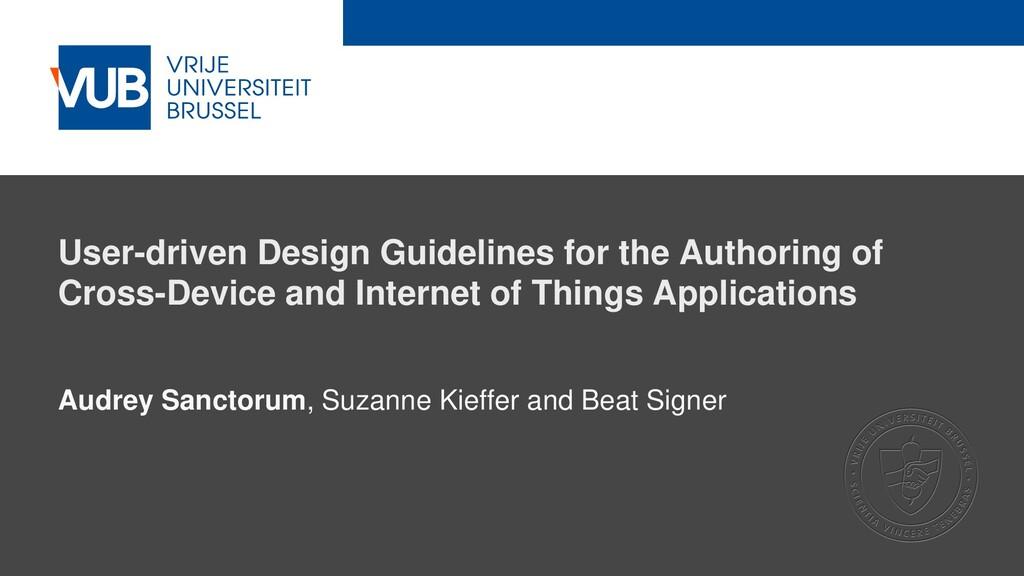 2 December 2005 User-driven Design Guidelines f...