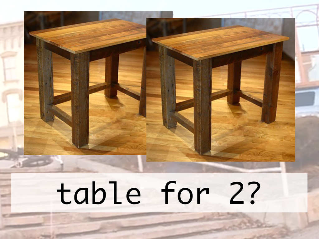 table for 2?