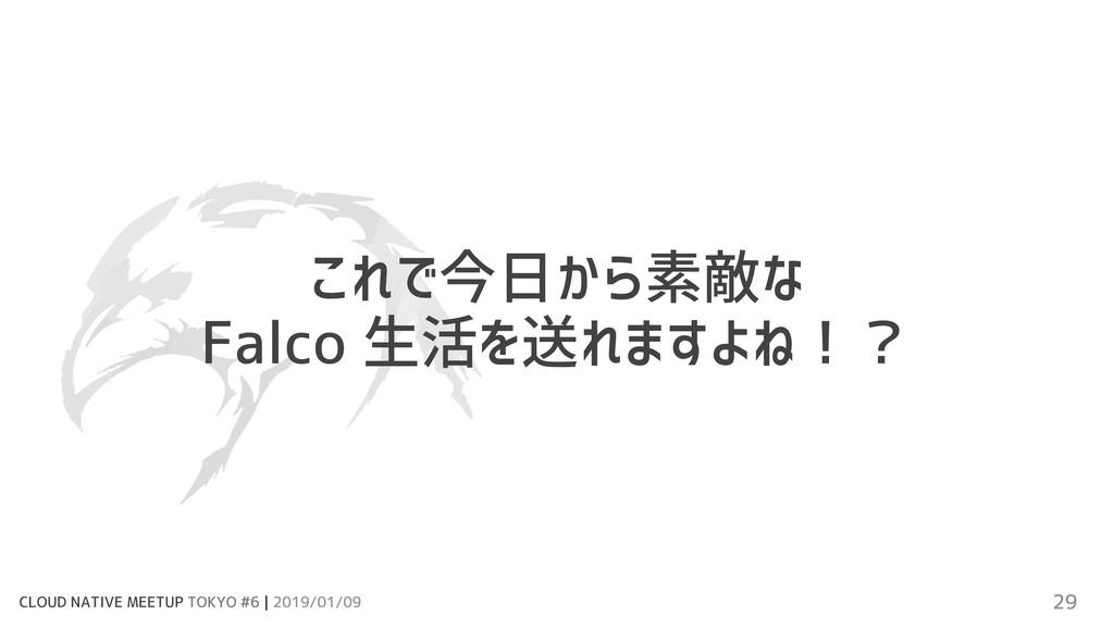 CLOUD NATIVE MEETUP TOKYO #6 | 2019/01/09 29 これ...