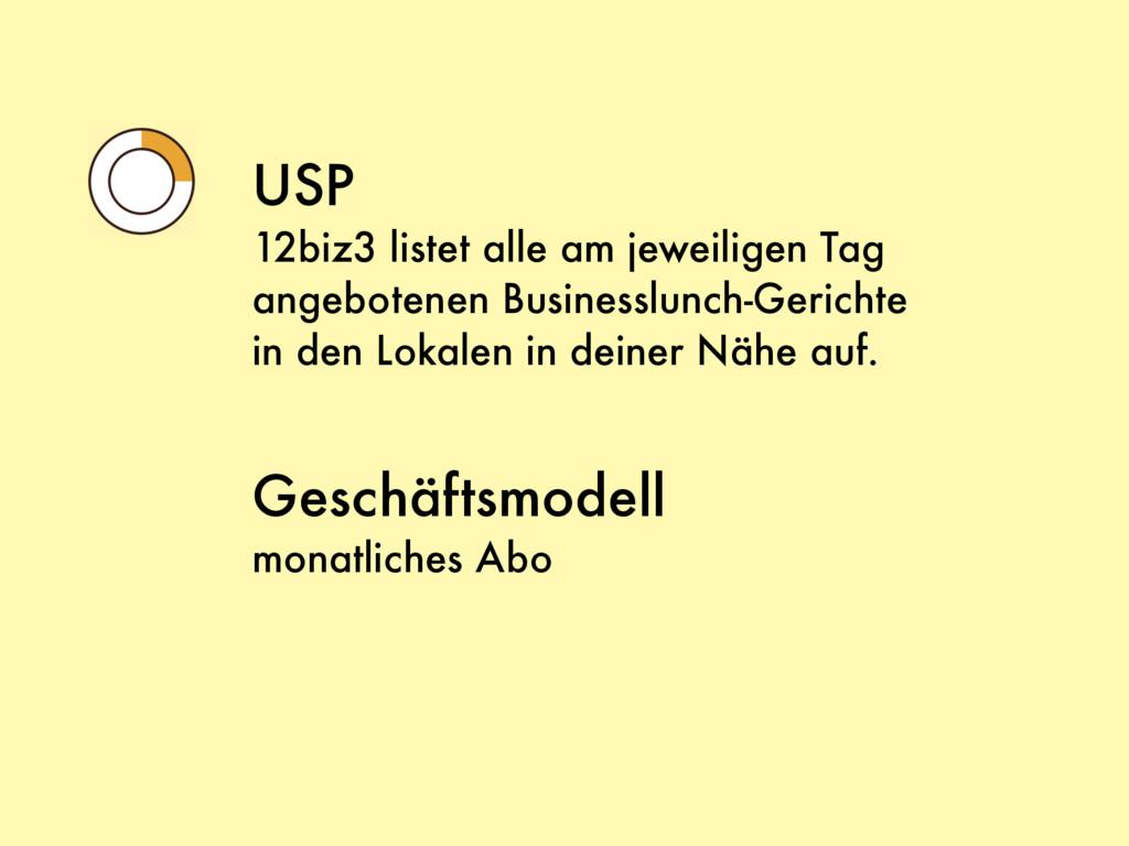 USP 12biz3 listet alle am jeweiligen Tag angebo...