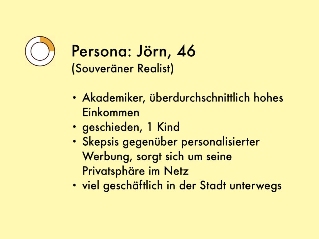 Persona: Jörn, 46 (Souveräner Realist) • Akadem...