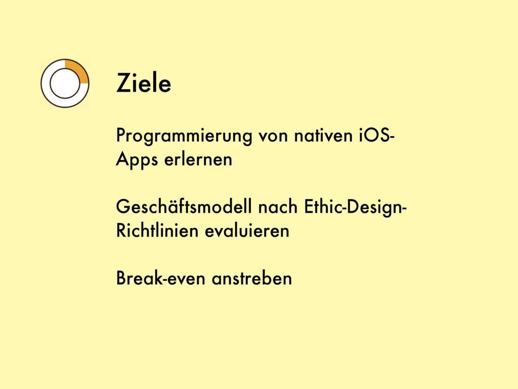 Ziele Programmierung von nativen iOS- Apps erle...