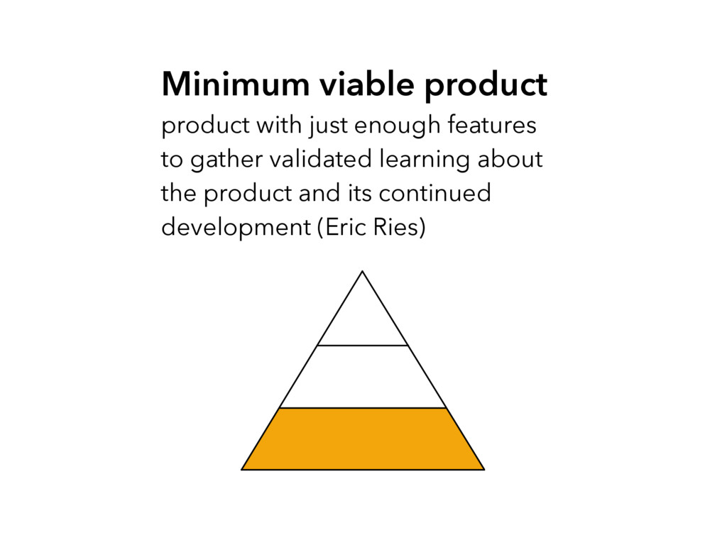 Minimum viable product product with just enough...