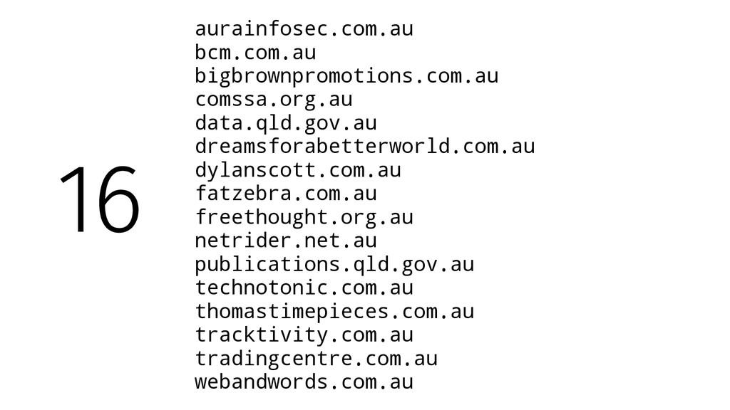 aurainfosec.com.au bcm.com.au bigbrownpromotion...