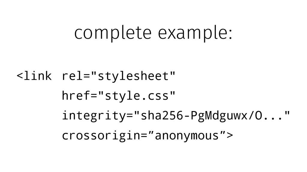 "<link rel=""stylesheet"" href=""style.css"" integri..."