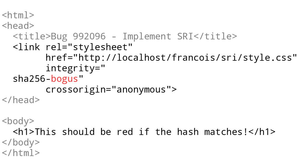 <html> <head> <title>Bug 992096 - Implement SRI...