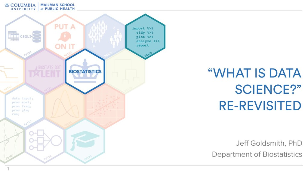 """1 """"WHAT IS DATA SCIENCE?"""" RE-REVISITED Jeff Gol..."""