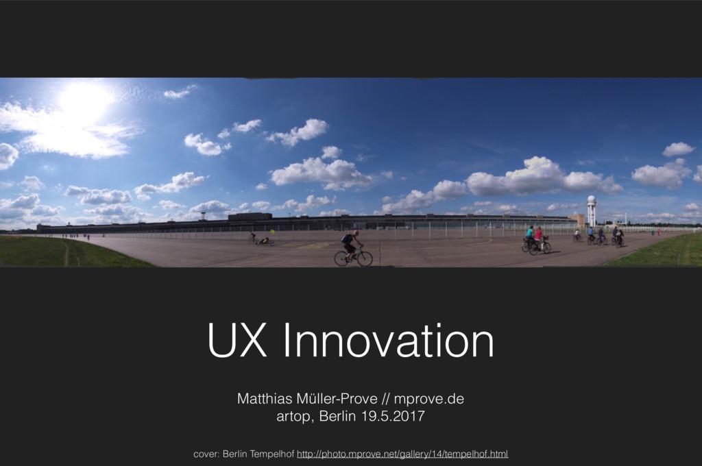 UX Innovation Matthias Müller-Prove // mprove.d...