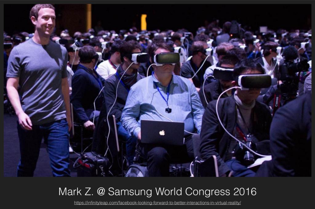 Mark Z. @ Samsung World Congress 2016 https://i...