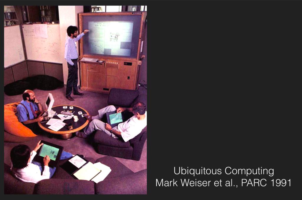 Ubiquitous Computing Mark Weiser et al., PARC ...