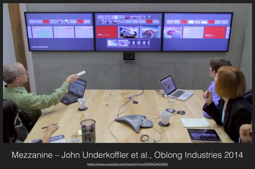 Mezzanine – John Underkoffler et al., Oblong Ind...