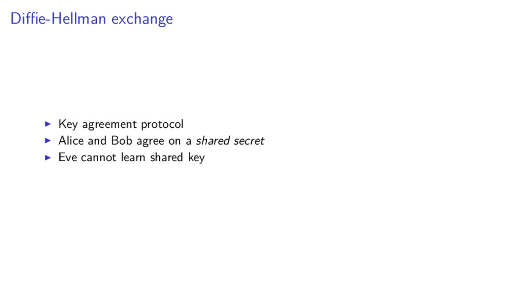 Diffie-Hellman exchange Key agreement protocol Al...