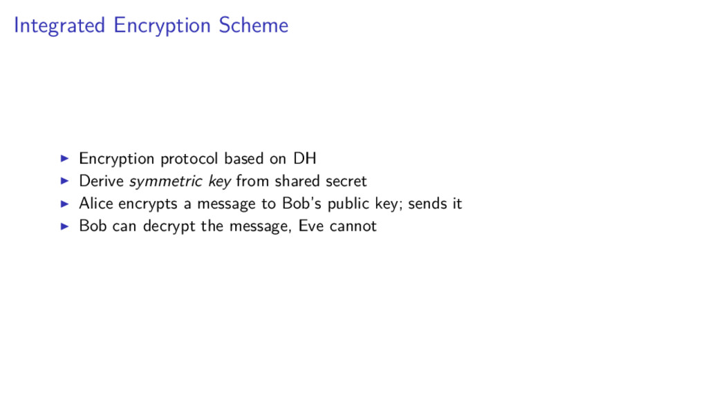 Integrated Encryption Scheme Encryption protoco...