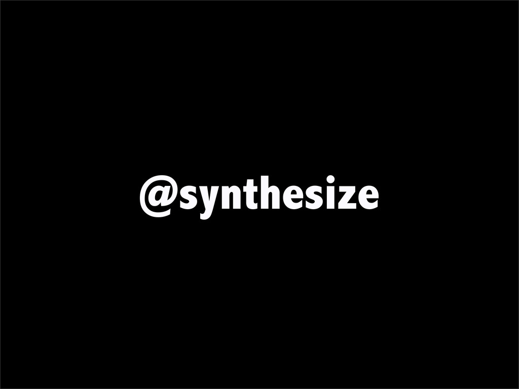 @synthesize