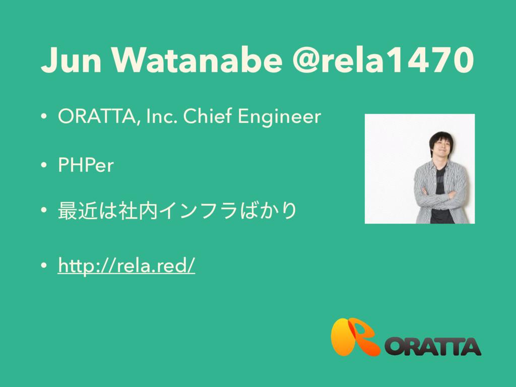 Jun Watanabe @rela1470 • ORATTA, Inc. Chief Eng...