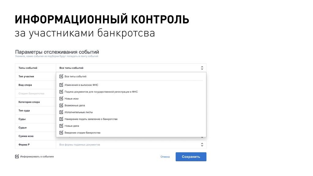 ИНФОРМАЦИОННЫЙ КОНТРОЛЬ за участниками банкротс...