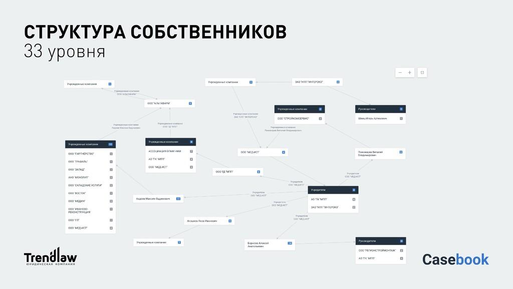 СТРУКТУРА СОБСТВЕННИКОВ 33 уровня