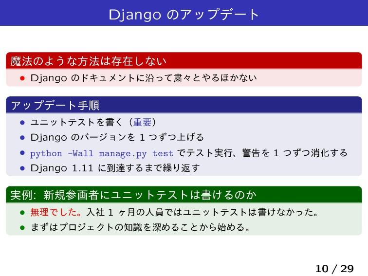 Django ͷΞοϓσʔτ ຐ๏ͷΑ͏ͳํ๏ଘࡏ͠ͳ͍ Ĺ Django ͷυΩϡϝϯτʹ...