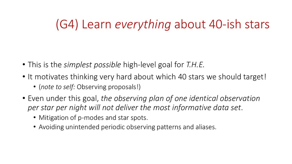 (G4) Learn everything about 40-ish stars • This...