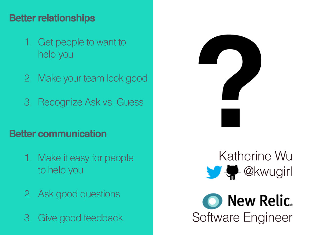 Katherine Wu @kwugirl ! ! Software Engineer Bet...