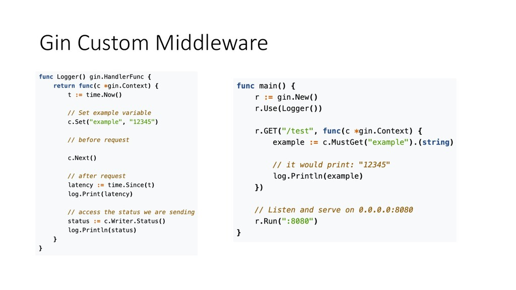 Gin Custom Middleware