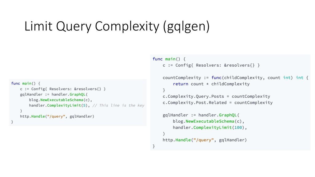 Limit Query Complexity (gqlgen)