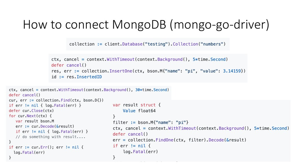 How to connect MongoDB (mongo-go-driver)