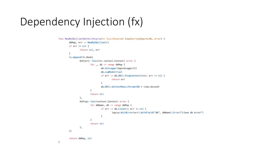 Dependency Injection (fx)