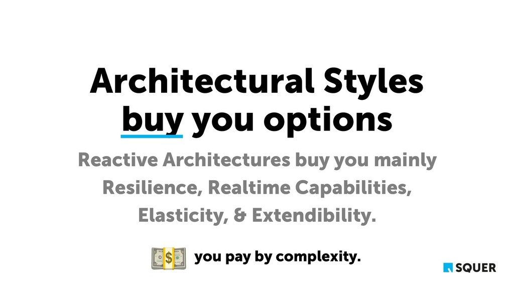 Architectural Styles buy you options Reactive A...