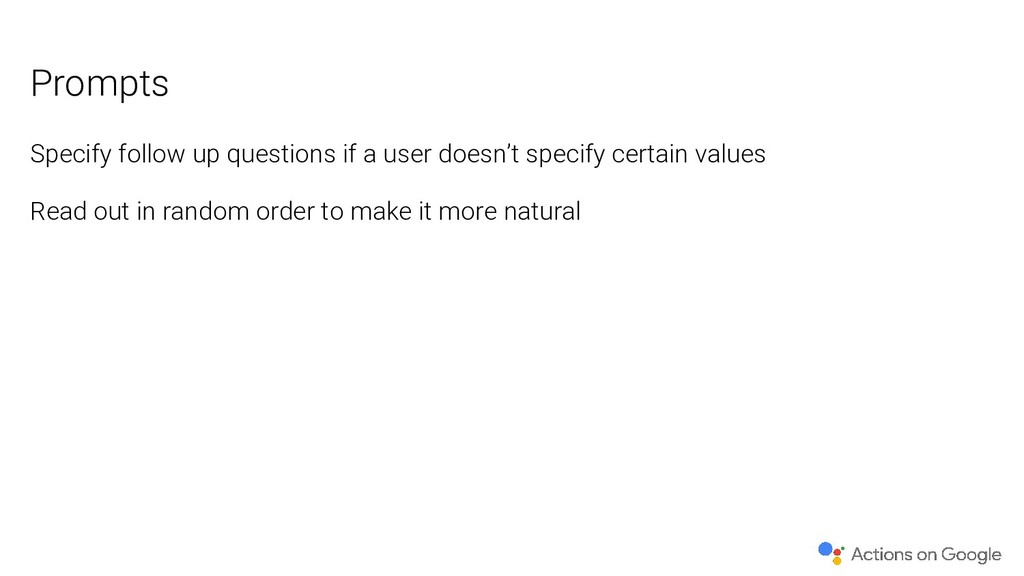 Specify follow up questions if a user doesn't s...