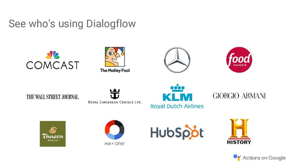 See who's using Dialogflow