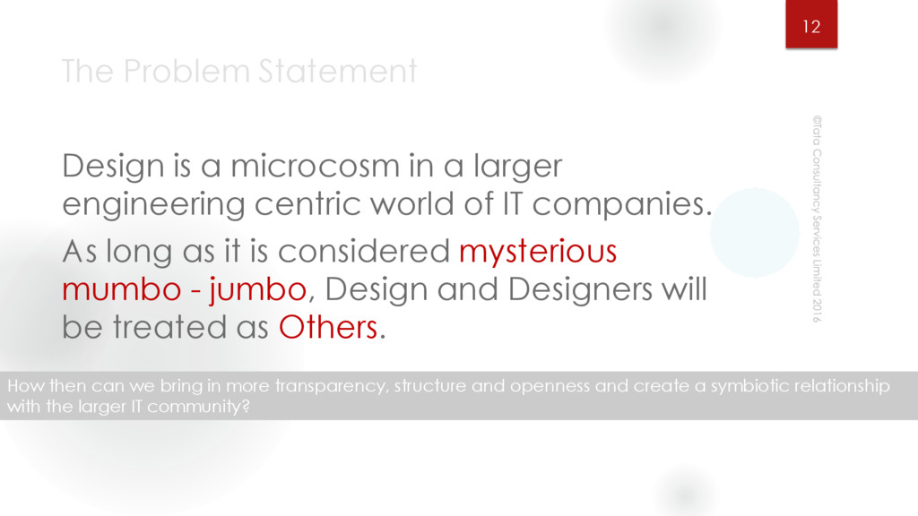 The Problem Statement Design is a microcosm in ...