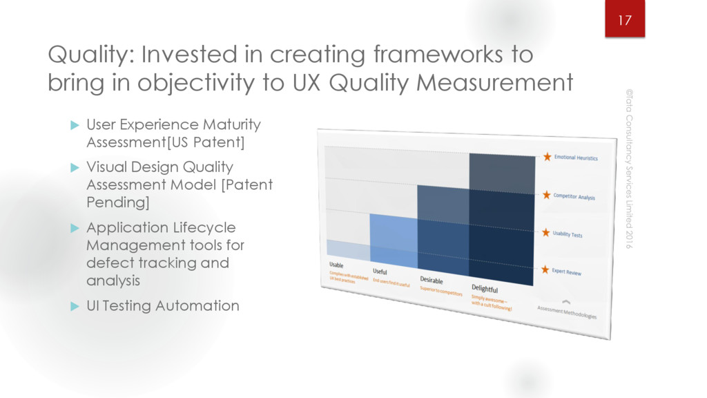 Quality: Invested in creating frameworks to bri...
