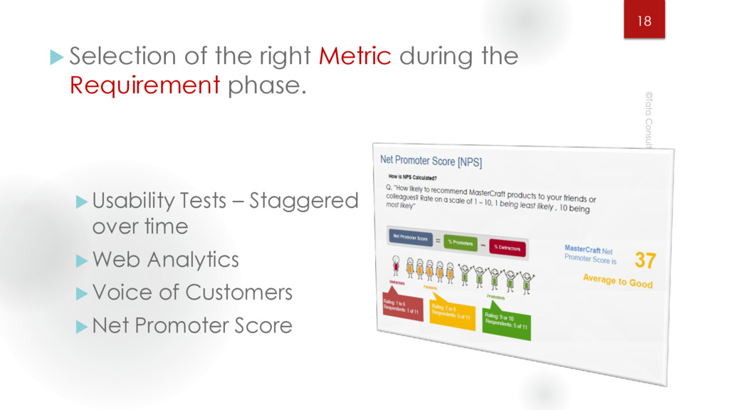  Selection of the right Metric during the Requ...