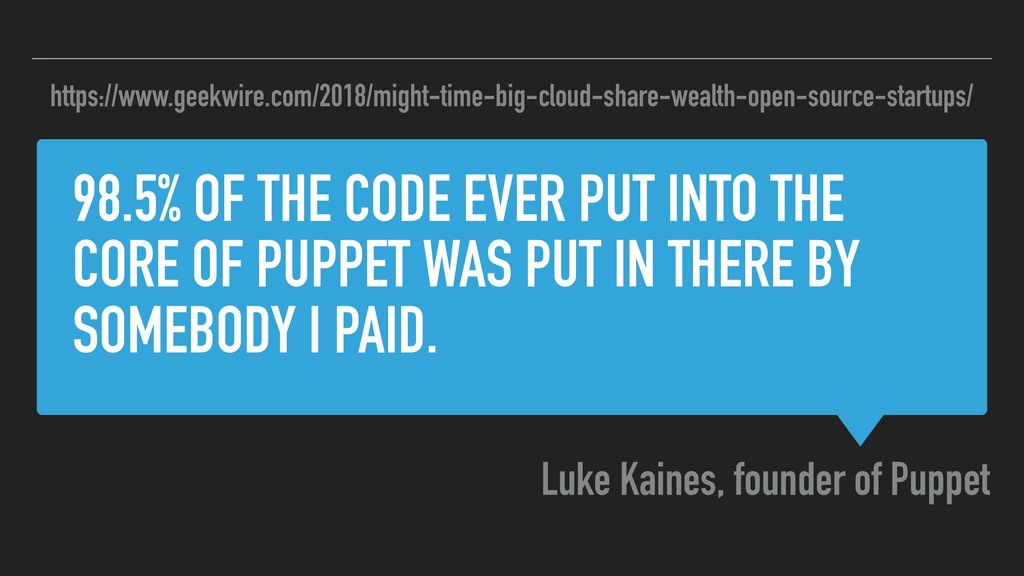 98.5% OF THE CODE EVER PUT INTO THE CORE OF PUP...