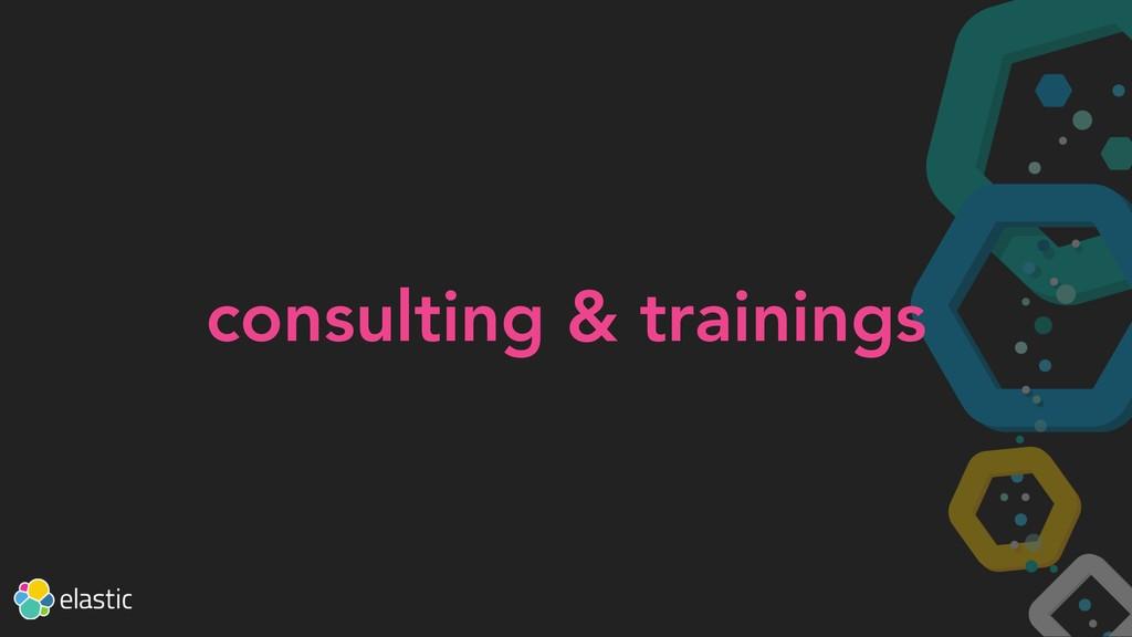 consulting & trainings