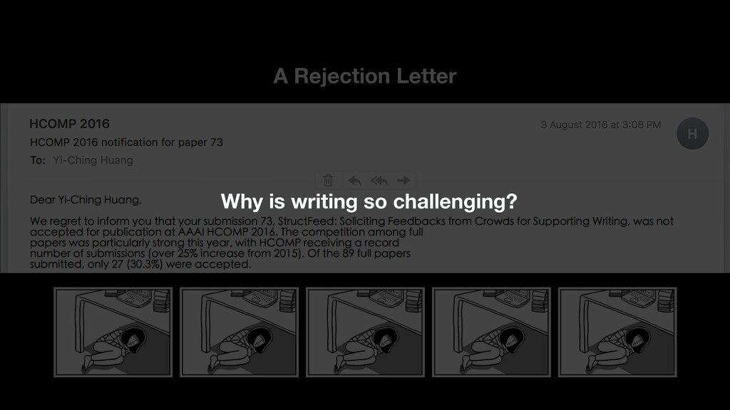 A Rejection Letter 8 Why is writing so challeng...