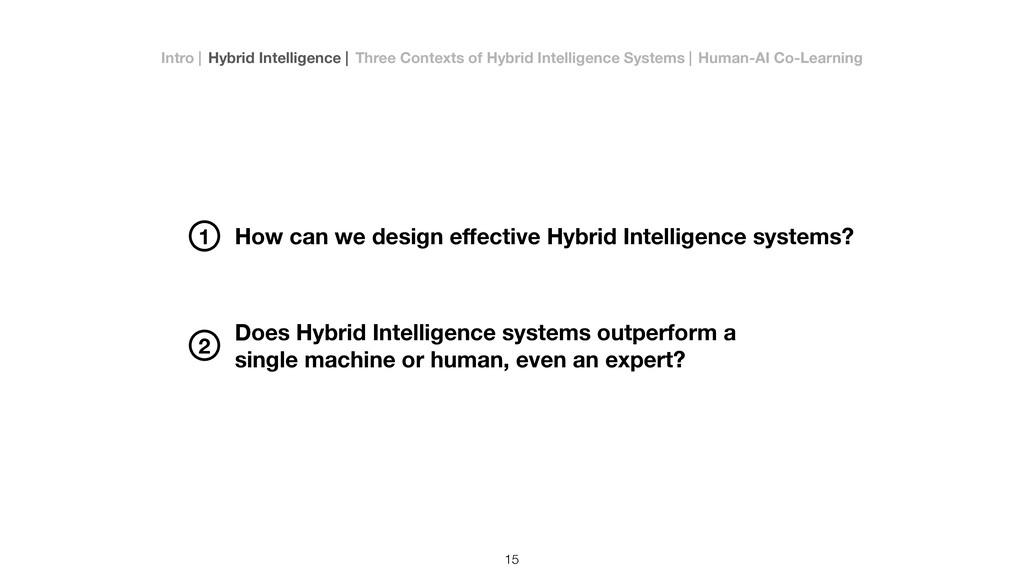 How can we design effective Hybrid Intelligence ...