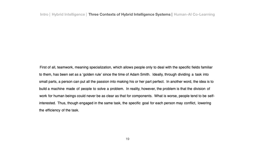 19 Intro   Hybrid Intelligence   Three Contexts...