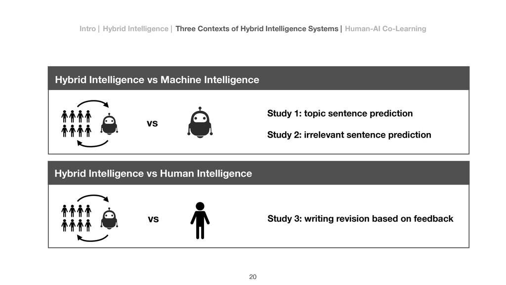 vs vs Study 1: topic sentence prediction Study ...