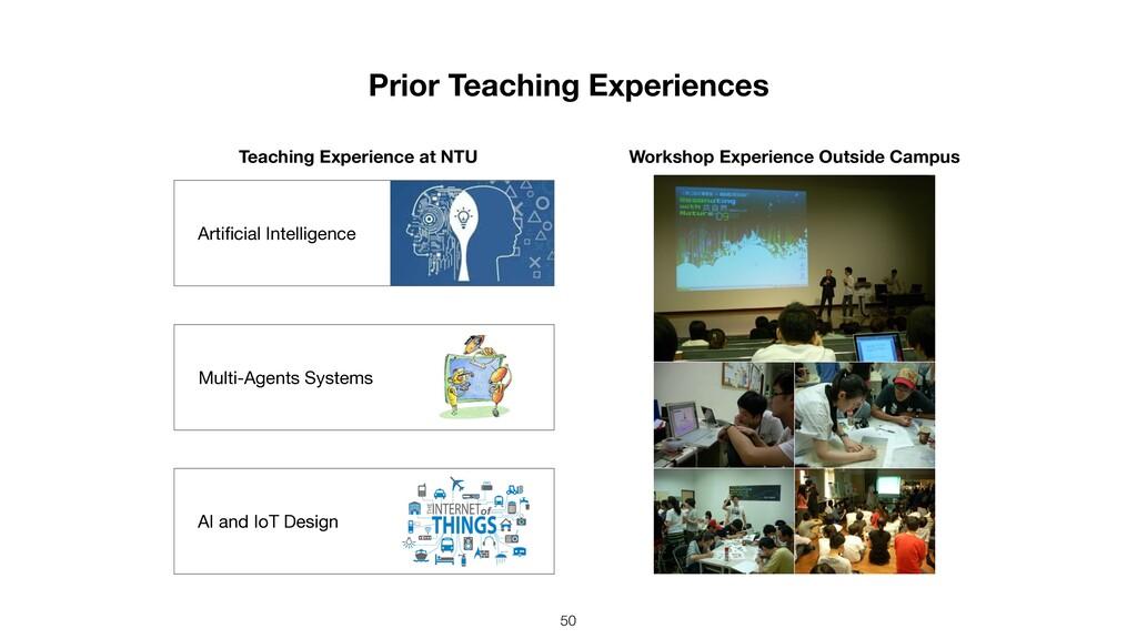 Prior Teaching Experiences 50 Workshop Experien...