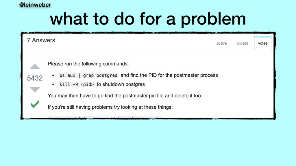 @leinweber what to do for a problem