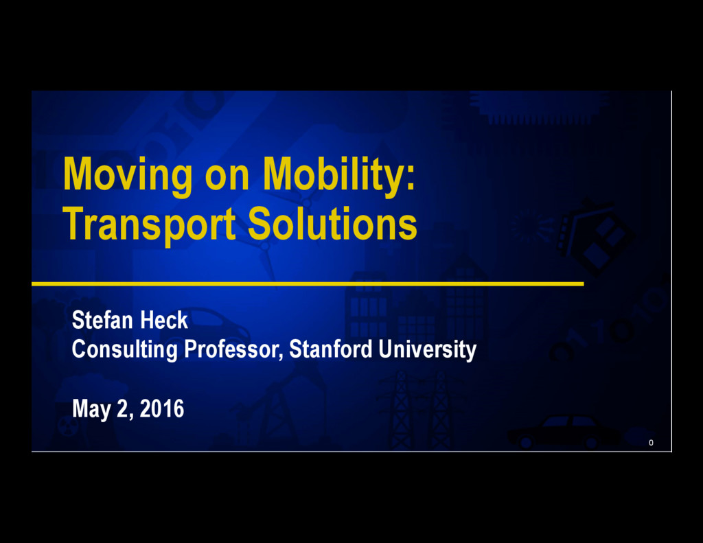 0 Moving on Mobility: Transport Solutions Stefa...