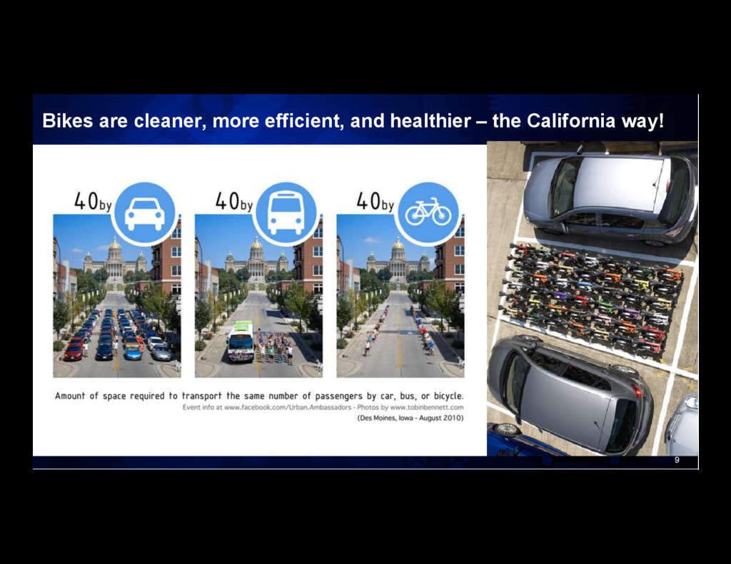 9 Bikes are cleaner, more efficient, and health...