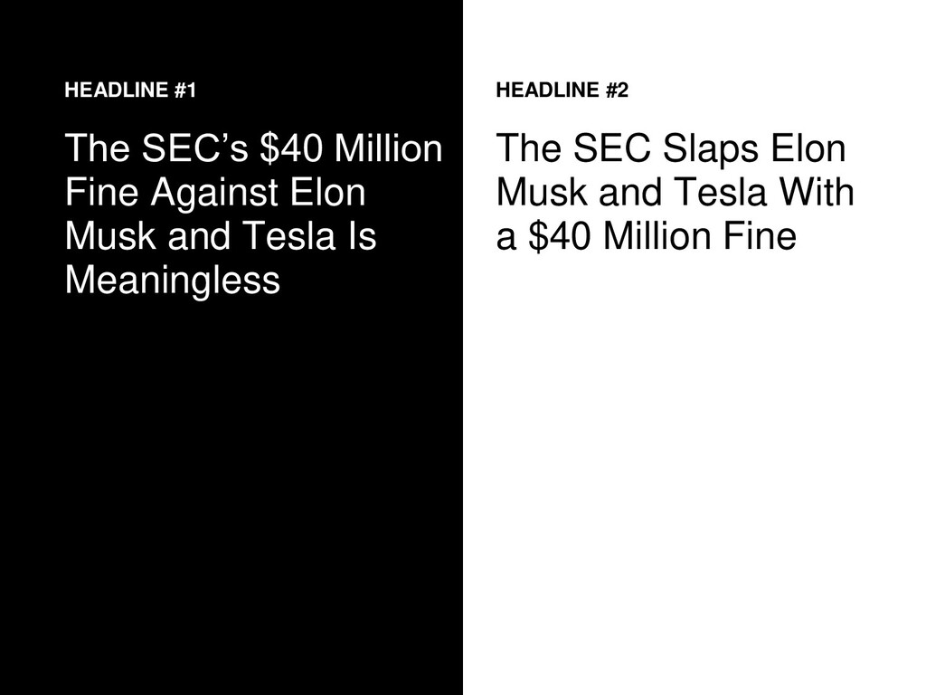 HEADLINE #1 The SEC's $40 Million Fine Against ...
