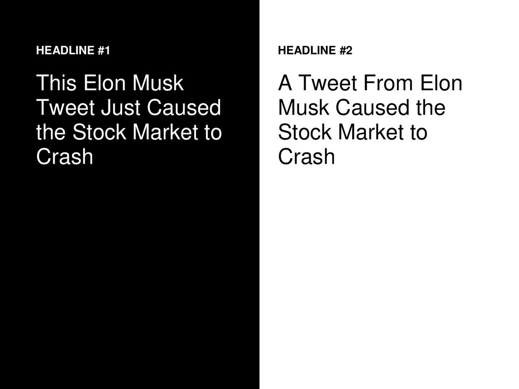 HEADLINE #1 This Elon Musk Tweet Just Caused th...