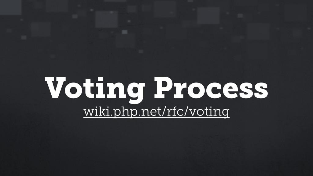 Voting Process wiki.php.net/rfc/voting