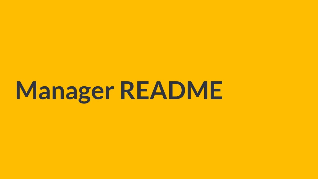 Manager README