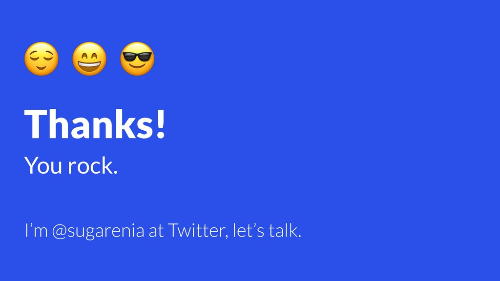 Thanks! You rock.    I'm @sugarenia at Twitter,...