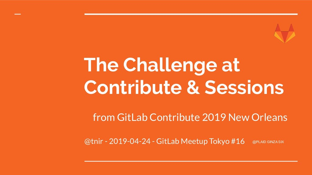 The Challenge at Contribute & Sessions @tnir - ...